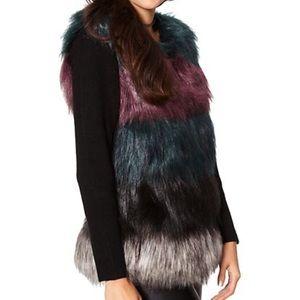 NY & Company - Faux Fur Sweater Vest